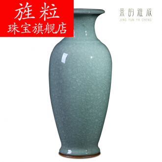 Continuous grain of jingdezhen ceramic vases, small and pure and fresh decoration lucky bamboo vases, flower arrangement sitting room furnishing articles