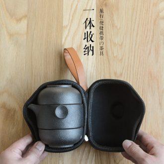 Crack of single a pot of two cup portable bag tea suit small ceramic teapot teacup with tea