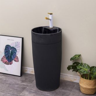 The Black one - piece pillar basin floor ceramic lavatory balcony toilet lavabo I and contracted household