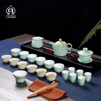 DH jingdezhen tea sets kung fu tea cups sniff ceramic cups tureen household teapot small cups