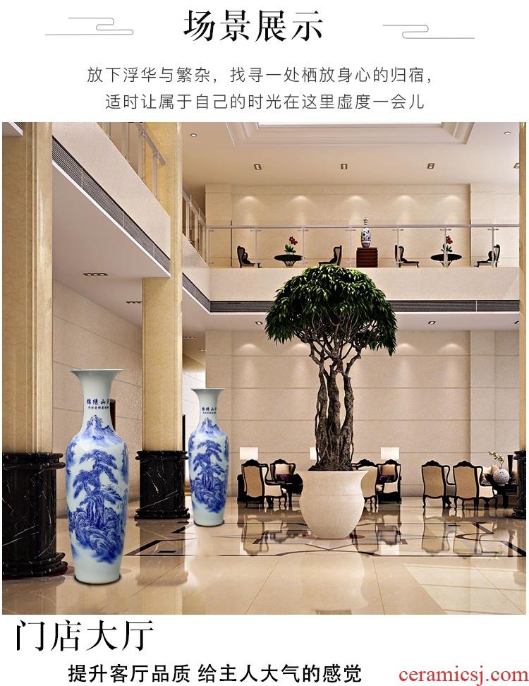 Jingdezhen ceramic big vase furnishing articles hand - made master vase home sitting room decorate a room TV cabinet decoration - 586404395363