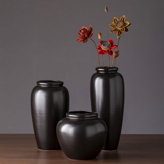 2019 new black ceramic vase zen contracted creative furnishing articles of I sitting room hotel vase do the vase