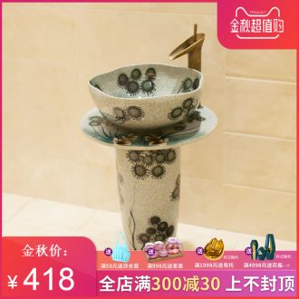 M beautiful hand-painted pillar basin ceramic art basin sink basin elegant dandelion