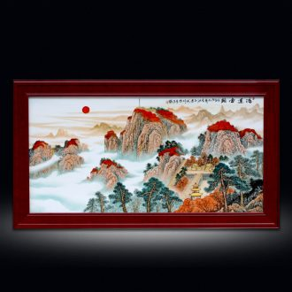 Porch light decoration key-2 luxury sitting room of Chinese style corridor murals jingdezhen hand - made porcelain plate painting hangs a picture hanging screen Porch