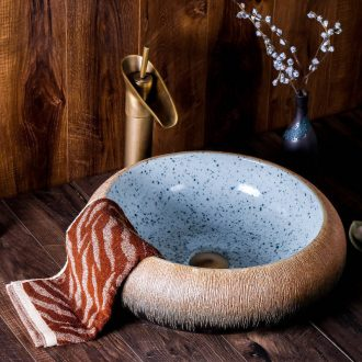 Jingdezhen ceramic lavabo stage basin new round basin of Chinese style art move household hotel toilet