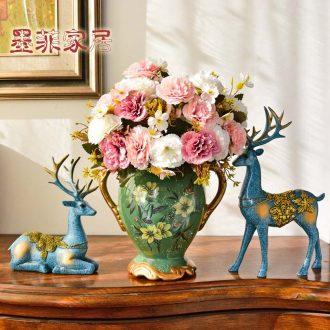 Murphy European - style ceramics floret bottle furnishing articles sitting room vintage American pastoral originality table of dried flowers flower arrangement