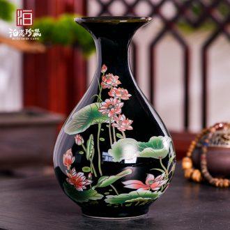 Jingdezhen ceramics vase furnishing articles TV ark dried flower flower arranging the modern Chinese style household sitting room adornment porcelain