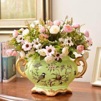 Murphy American retro ceramic vase and furnishing articles European large living room table simulation dry flower art flower arranging