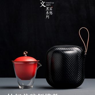 Evan ceramic portable crack cup travel kung fu tea set Japanese tureen suit contracted is suing small cups