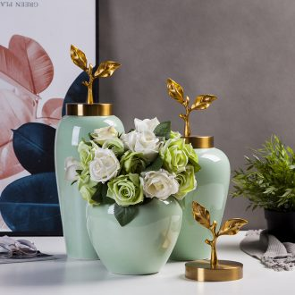 Ceramic vase furnishing articles sitting room porch flower arrangement is Europe type TV ark, home wine ark, adornment table dry vase