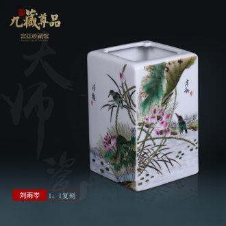 Jingdezhen ceramics imitation qing qianlong hand-painted pastel painting of flowers and flower arrangement with Chinese style porch sitting room adornment furnishing articles