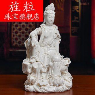 High-quality goods of bm Zheng Jinxing master manually signed dehua ceramic Buddha handicraft of shui quan Yin D18-41