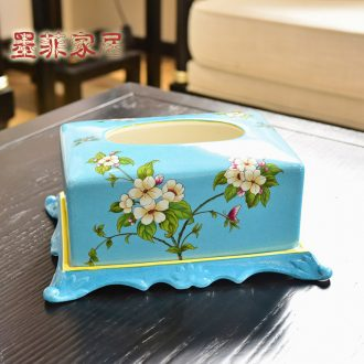 Murphy sitting room tea table painted ceramic exhaust cartons American household adornment tissue box adornment restoring ancient ways furnishing articles