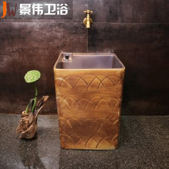 The Mop pool large ceramic wash Mop pool toilet Mop pool square balcony Mop basin water automatically