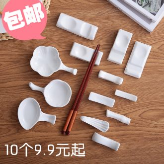 New white ceramic hotel table chopsticks chopsticks tableware frame supporting ideas and multi-purpose spoon chopsticks holder frame 10
