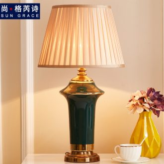 American traditional ceramic lamps fashion decoration creative home sitting room lamps and lanterns of bedroom the head of a bed lamp sweet romance
