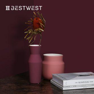 BEST WEST light key-2 luxury ceramic vase furnishing articles dry flower vase example room sitting room exhibition hall decoration ideas
