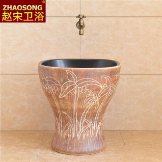 Square square ceramic conjoined balcony mop pool restoring ancient ways of household toilet mop mop basin sink outdoor pool