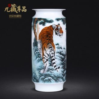 Famous hand-painted pastel ideals vase of jingdezhen ceramics household flower arrangement sitting room TV ark furnishing articles