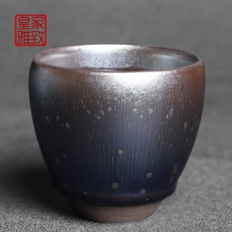 Royal refined jianyang built lamp cup manual star cup of oil droplets master cup single CPU single ceramic fragrance - smelling cup in hand