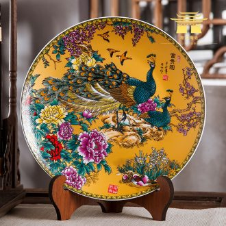 Jingdezhen chinaware plate hang dish TV ark, household act the role ofing is tasted, the sitting room porch wall adornment handicraft furnishing articles