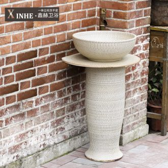 Lavabo ceramic basin of pillar type column small basin household indoor toilet ground commode pool basin
