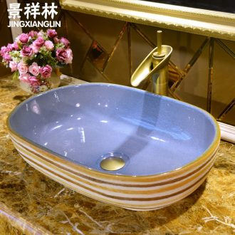The Lavatory art ceramic European - style oblong toilet stage basin basin sink basin on stage