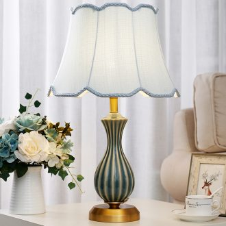 Ceramic lamp lamps and lanterns of bedroom the head of a bed full of copper european-style home sitting room TV cabinet light sweet romance study desk lamp