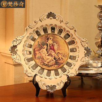 Vatican Sally 's European character ceramic decoration plate furnishing articles household act the role ofing is tasted wine accessories rich ancient frame plate shelf