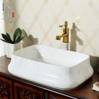 M beautiful stage basin art contracted thin edge rectangle lavatory marble deep basin ceramic lavabo