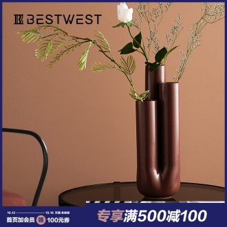 BEST WEST geometric creative ceramic vase light key-2 luxury furnishing articles of modern designer example room sitting room adornment