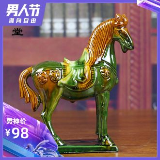 Dust heart tang sancai horse eight steed furnishing articles of handicraft ceramic feng shui plutus home sitting room adornment