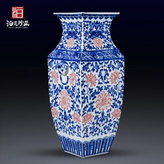 Jingdezhen ceramics big table vase in the sitting room porch Chinese style household adornment handicraft furnishing articles TV ark
