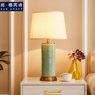 Contracted and contemporary bedroom Nordic bedside lamp light luxury home decoration to the hotel villa example room ceramic table lamps and lanterns