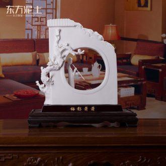 Oriental clay ceramic designer bin - bin Lin, its art furnishing articles after 80/MeiYing rustling D46-08