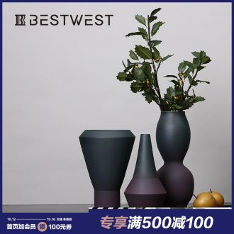 BEST WEST designer ceramic vase furnishing articles example room living room large vase soft light key-2 luxury decoration