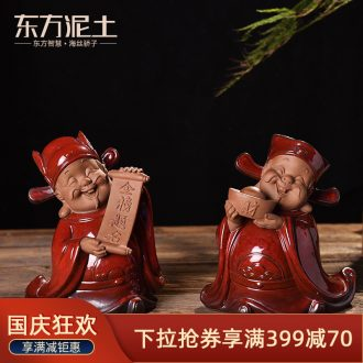 Oriental ceramic clay jinbang title furnishing articles creative home students book room entrance gift blessing decorations
