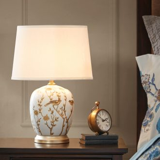 HarborHouse ceramic desk lamp sitting room bedroom berth lamp American contracted study adornment lamps and lanterns is Via