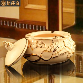 The Vatican Sally 's ceramic ashtray with cover European creative ashtray large sitting room place personalization gifts