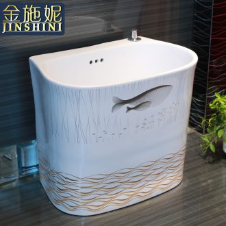 The balcony floor mop pool The home of The big yards mop pool ceramic toilet mop pool floor mop pool mop basin