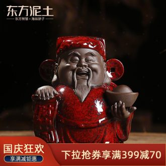 Oriental clay ceramic household wealth lucky place Chinese style living room and office decoration/desktop