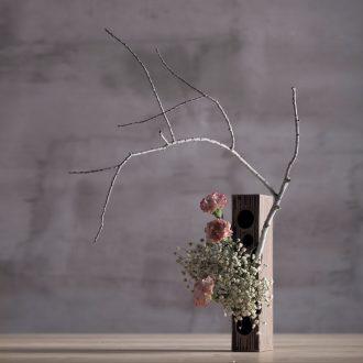Million kilowatt/hall ceramic flower flower implement receptacle rectangle furnishing articles creative home furnishings flower implement point line