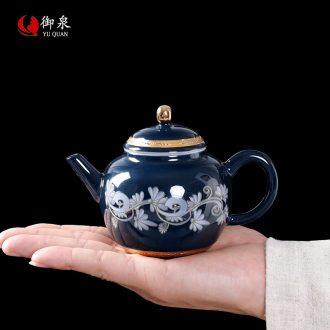 Imperial springs, fuels the teapot with manual small teapot tea exchanger with the ceramics filter single pot of kung fu tea set Chinese style