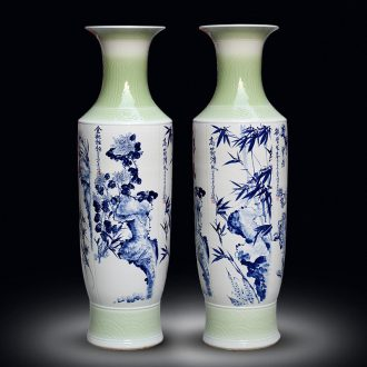 Jingdezhen ceramic by patterns of large vase household sitting room adornment flower arranging large porcelain porcelain furnishing articles