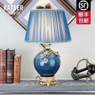 Cartel American key-2 luxury living room full of copper colored enamel lamp European ceramics villa of bedroom the head of a bed lamp