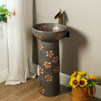 M Chinese pillar landing one lavatory toilet stage basin sink outdoor ceramics