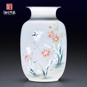 Jingdezhen ceramics hand - made flower vase new TV ark, sitting room porch decoration of Chinese style household furnishing articles furnishing articles