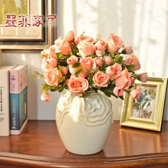 Murphy 's European modern creative ceramic flower vases, hand knead ice crack glaze sitting room bedroom home furnishing articles floral outraged