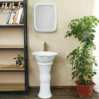Post, neat new Chinese style ceramic lavabo floor balcony column basin of pillar type lavatory toilet