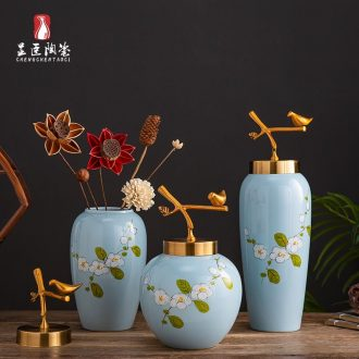 Jingdezhen ceramic furnishing articles contracted sitting room office flower arranging modern creative home decoration porcelain vase